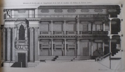 Upright of a part of the amphiteatre in the Theatre at Les Tuileries