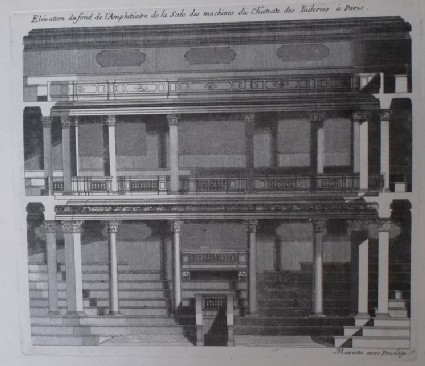 Upright of back of the amphiteatre in the Theatre at Les Tuileries