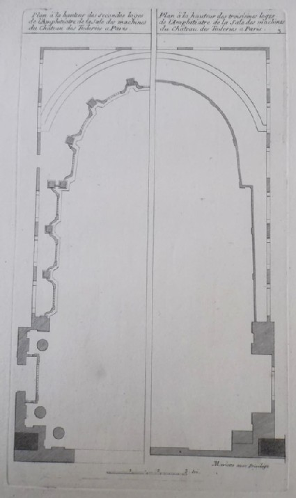 Plan of the second and third tier of boxes of the amphiteatre in the Theatre at Les Tuileries