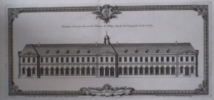 Upright of the facade of the new buildings of the Abbaye Royale of St Denis