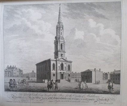North West View of St Giles's Church in the Fields