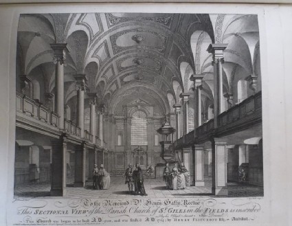 Sectional View of the Parish Church of St Giles in the Fields
