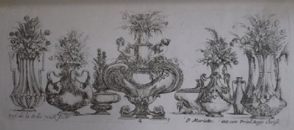 Eight vases, 'Raccolta di Vasi diversi di Stef. de la Bella Fiorentino', Plate 4