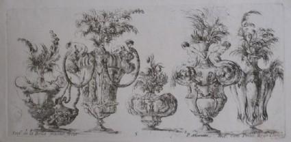 Design for six vases, 'Raccolta di Vasi diversi di Stef. de la Bella Fiorentino', Plate 5
