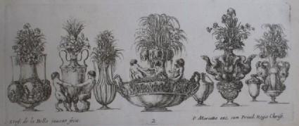 Design for eight vases, 'Raccolta di Vasi diversi di Stef. de la Bella Fiorentino', Plate 2