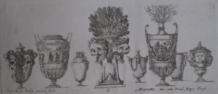 Design for eight vases, 'Raccolta di Vasi diversi di Stef. de la Bella Fiorentino', Plate 6