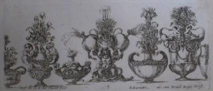 Design for seven vases, 'Raccolta di Vasi diversi di Stef. de la Bella Fiorentino', Plate 3
