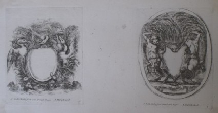Design for two cartouches, from the series 'Nouvelles inventions de Cartouches', plates 3 and 4