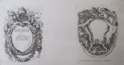 Design for two cartouches, from the series 'Nouvelles inventions de Cartouches', plates 1 and 2