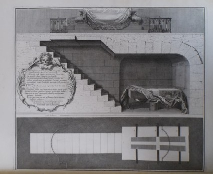 Plan and section of the crypt under Cardinal Richelieu's tomb