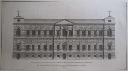 Facade of the new building for the Treasury