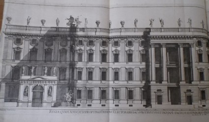 Facade of a large building