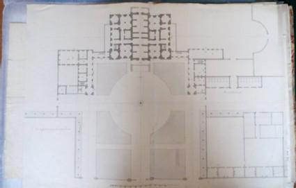 Design of the general plan of the new building of Hamstead Marshall the seat of Lord Craven