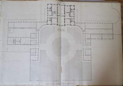 Design of the general plan of another draft for the new building of Hamstead Marshall, the seat of Lord Craven
