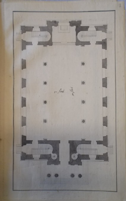 Design of the plan of an alternate draught for the church of St Martin-in-the-Fields