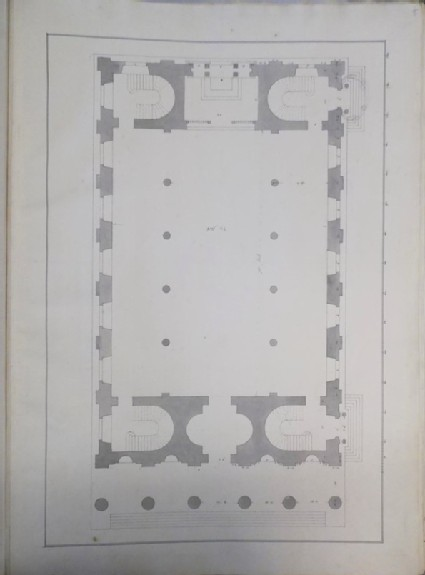 Design of an alternate draught for the plan of St Martin-in-the-Fields