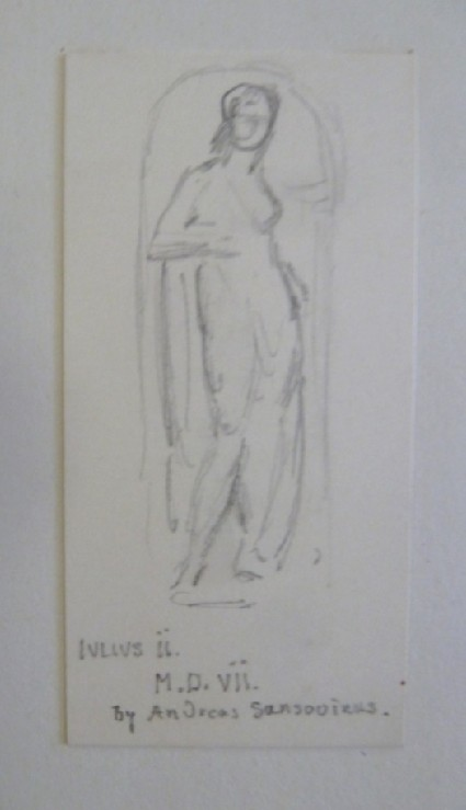 Sketch of Statue from the Tomb behind the Altar, S. Maria dil Popolo