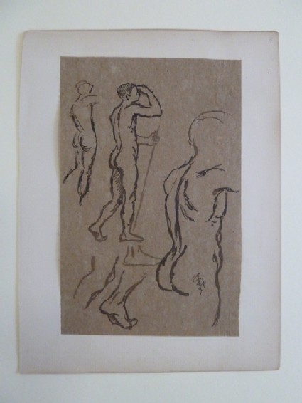Studies of Nude with Staff