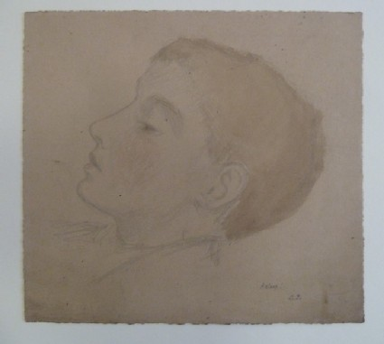 Head of a sleeping figure