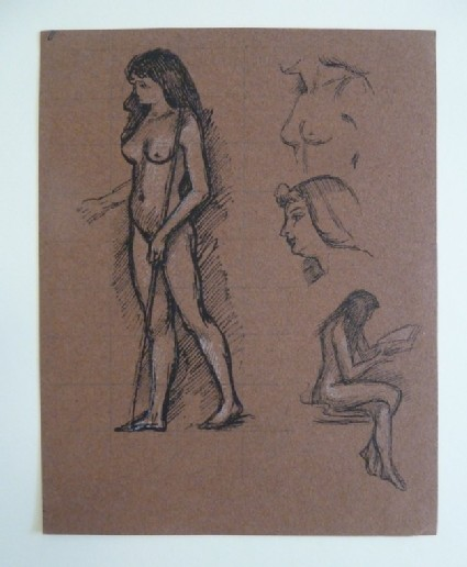 Nude Woman with additional Studies