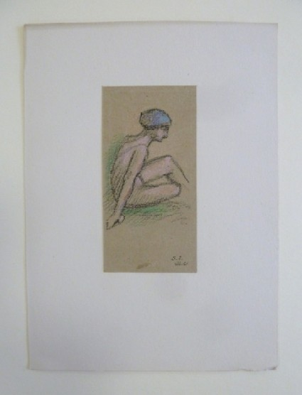 Woman in swimming Costume and Hat