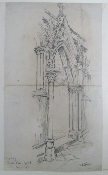 Doorway to Exeter College Chapel, Oxford