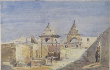 A Courtyard Scene in Egypt