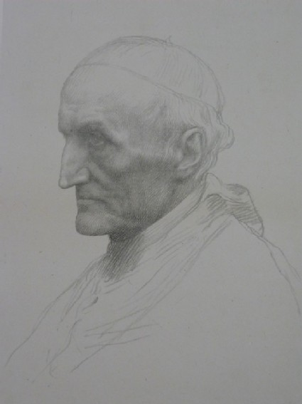 Portrait of Cardinal Manning. Second plate