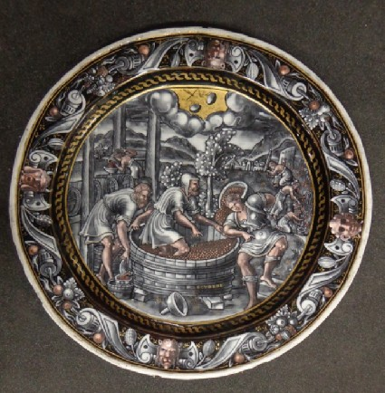 Plate: Labours of October