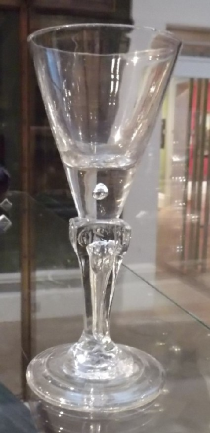 George I coronation wineglass