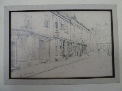 A row of houses, possibly on the High Street, Norwich