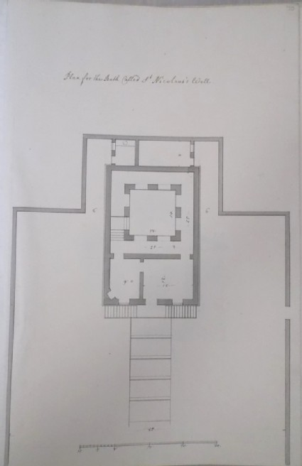 Plan for the Bath called St Nicolaus's Well (Kiveton House)