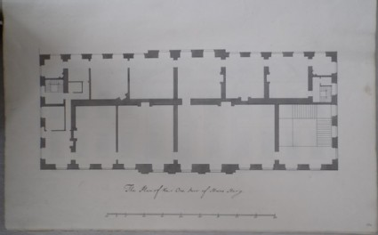 Plan of the One Pair of the Stairs Story
