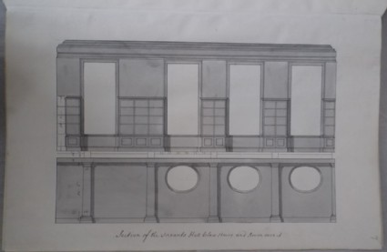Section of the Servants Hall below stairs and Room over it