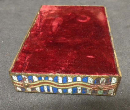 Base with four enamelled plaques