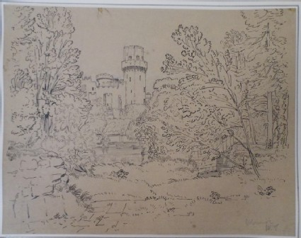 Warwick Castle seen through Trees