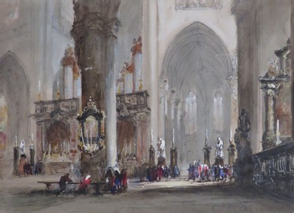 Interior of the Church of St James, Antwerp