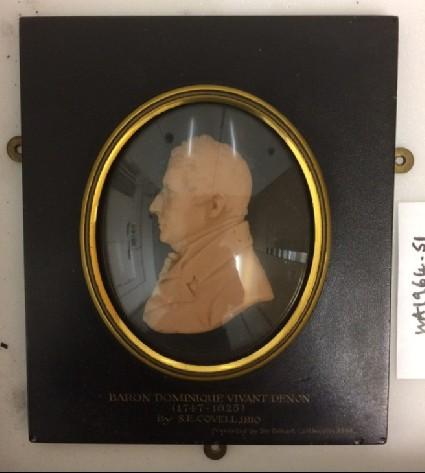 Portrait medallion allegedly of Baron Dominique Vivant Denon