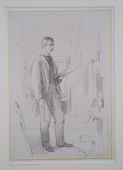 Portrait of Philip Wilson Steer working at his Easel