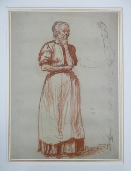 Study of an Old Woman with Studies of Arms