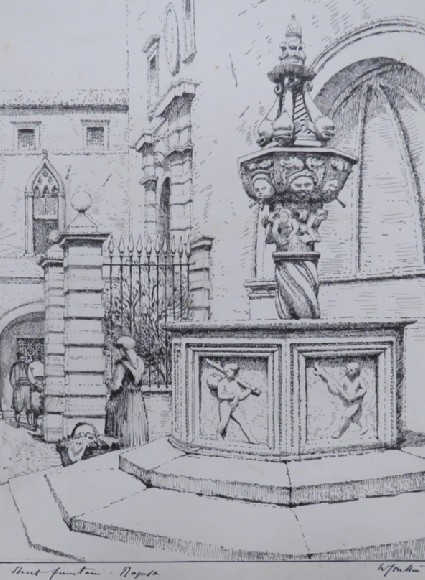 Onofrio's Fountain in the Piazza, Ragusa