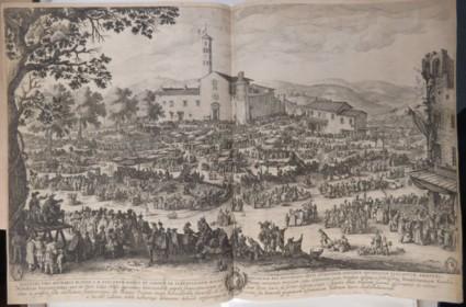 The fair of Impruneta, copy in reverse