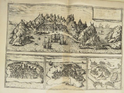 Views of the cities of Adem, Mombaza, Quiola and Cefala