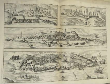 Views of the cities of Anfa, Azaammurum, Div and Goa