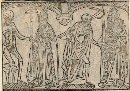 Recto: Pope and emperor of The Dance of Death 