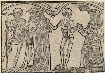 Recto: legate and duke of The Dance of Death 