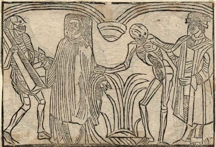 Recto: canon and merchant of The Dance of Death 