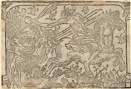 Recto: unidentified Dance of Death scene 