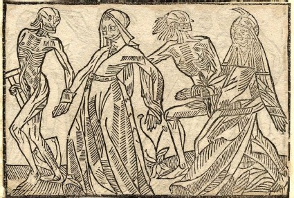 Recto: citizen and widow of the Dance of Death 