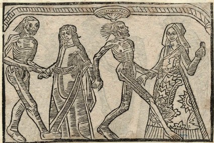 Recto: bride and darling wife of the Dance of Death 